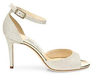 Jimmy Choo Women's Annie Glitter d'Orsay Ankle-Strap Sandals