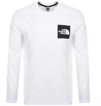 The North Face Fine Long Sleeved T Shirt White