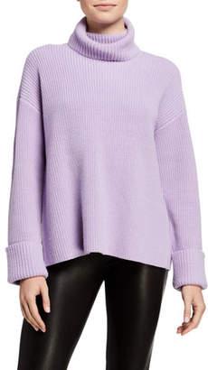 Alice + Olivia Mel Turtleneck Cross-Back Pullover