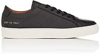 Common Projects Men's Achilles Grained Leather Sneakers - Black