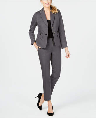Le Suit Two-Button Twill Pantsuit