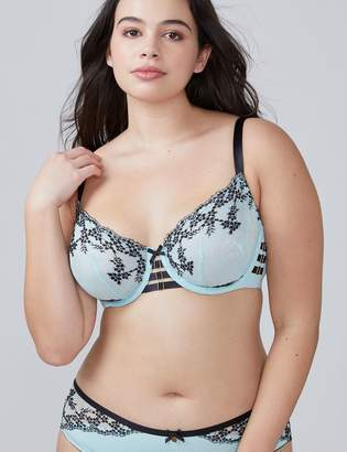 Cross-Dyed Unlined Balconette Bra