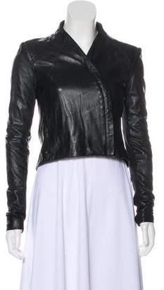 June Leather Zip-Up Jacket
