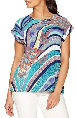 Quiz Abstract-Print Top