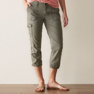Women's SONOMA Goods for LifeTM Cuffed Cargo Capris $36 thestylecure.com
