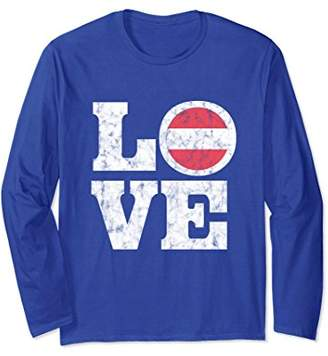 Love Austria Long Sleeves Austrian Pride Flag Shirt