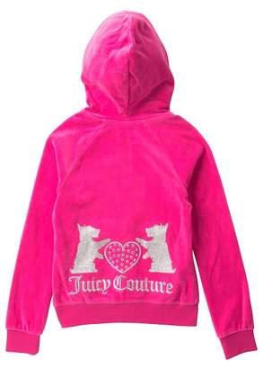 Juicy Couture Fuchsia Scottie Dogs Velour Hoodie & Pants Set (Big Girls)