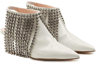 Christopher Kane Patent Leather Boots with Swarovski Crystal Fringe