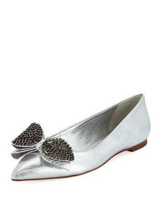 Fast Deliver Womens Tory Burch Logo Ballerinas Discount