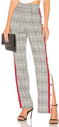Lovers + Friends Tailored Snap Track Pant