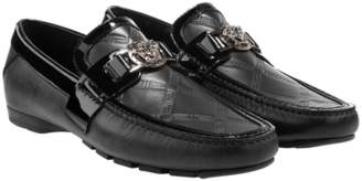 Versace Greca Embossed Driver Shoes
