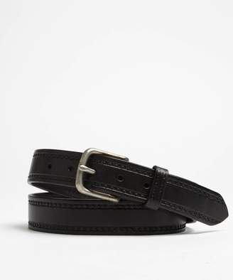 Todd Snyder Seamed Leather Belt in Black