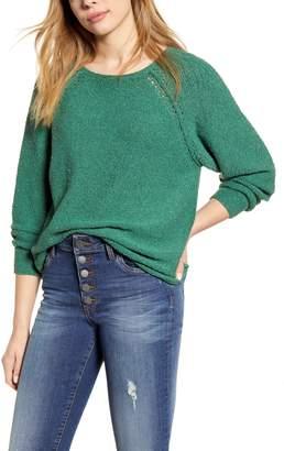 Caslon Boat Neck Boucle Sweater