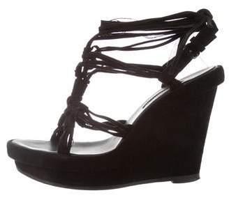 Ann Demeulemeester Suede Wedge Sandals