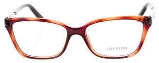 Valentino Rockstud Rectangle Eyeglasses
