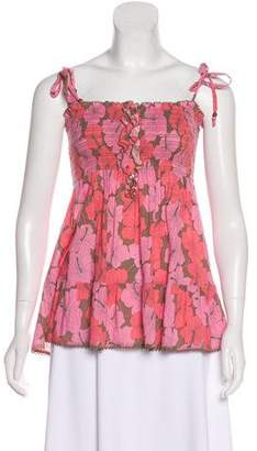 Juicy Couture Floral Print Sleeveless Top