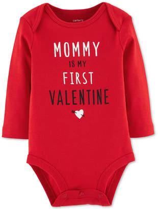 Carter's Carter Baby Girls & Boys Mommy Valentine Cotton Jumpsuit