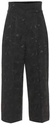 Dolce & Gabbana High-rise cropped jacquard pants