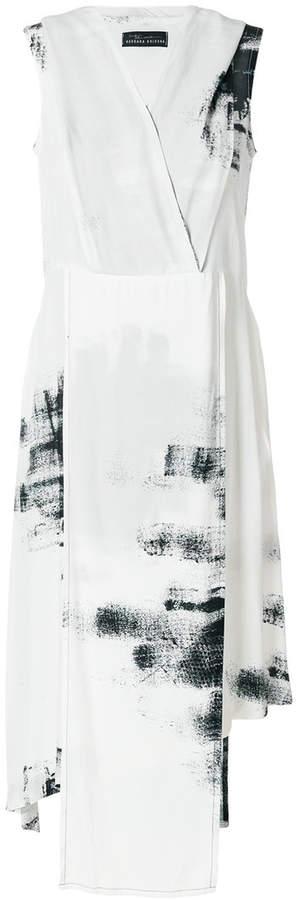 Barbara Bologna asymmetric abstract print dress