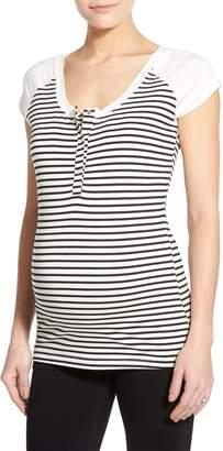 LAB40 'Toni' Stripe Maternity/Nursing Top