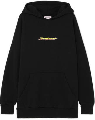 Palm Angels Arrows Printed Cotton-jersey Hoodie - Black