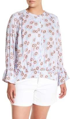 Melissa McCarthy Honeycomb Hi-Lo Top (Plus Size)