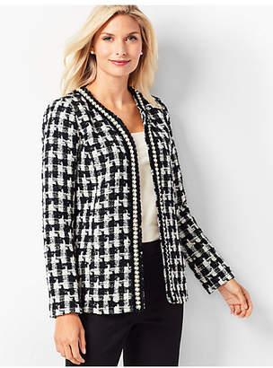 Talbots Pearl-Trim Tweed Jacket