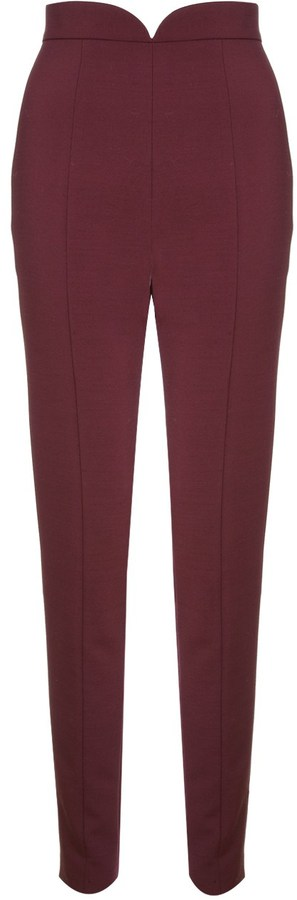 Paper London Burgundy Cigarette Trousers