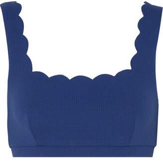Marysia Swim Palm Springs Scalloped Bikini Top - Cobalt blue