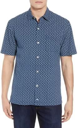Tommy Bahama A-Fish-ianado Cotton & Silk Camp Shirt