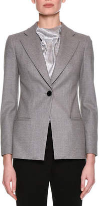 Giorgio Armani Classic Single-Button Blazer, Gray