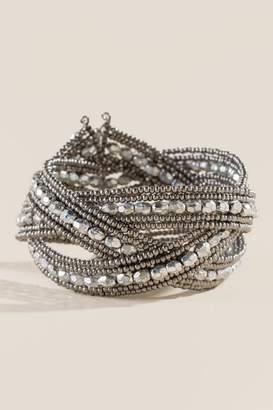 francesca's Amanda Beaded Bracelet - Silver