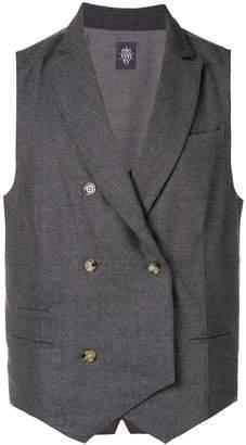 Eleventy double-breasted waistcoat
