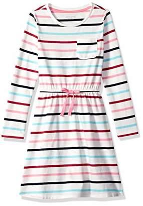 Amazon Essentials Big Girls' Long-Sleeve Elastic Waist T-Shirt Dress