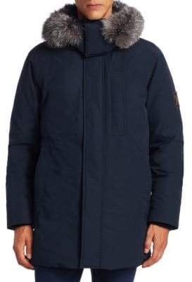 Madison Supply Fox Fur-Trim Down Parka