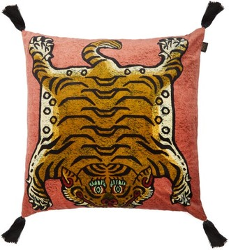House Of Hackney - Saber Tasselled Velvet Cushion - Light Pink