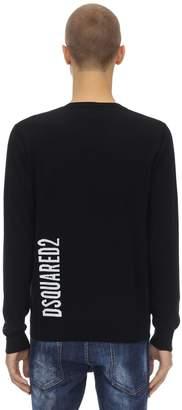 DSQUARED2 V-neck Wool Jacquard Sweater