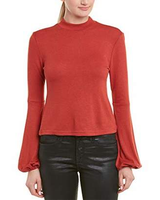 Jack by BB Dakota Junior's Going Places Sweater Knit Mock Neck Top