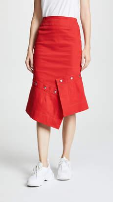 Edit Pencil Skirt With Button Off Peplum