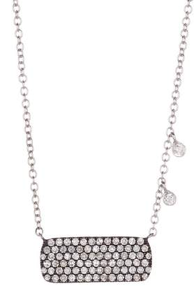 Meira T 14K White Gold Black Rhodium Diamond Plate Necklace - 0.54 ctw