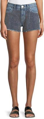 Hudson Kenzie Studded Cutoff Denim Shorts