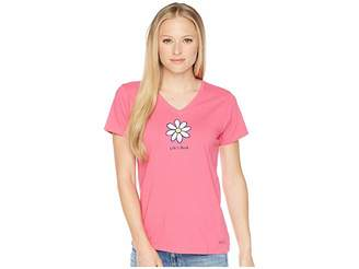 Life is Good Classic Daisy Crusher Vee Tee