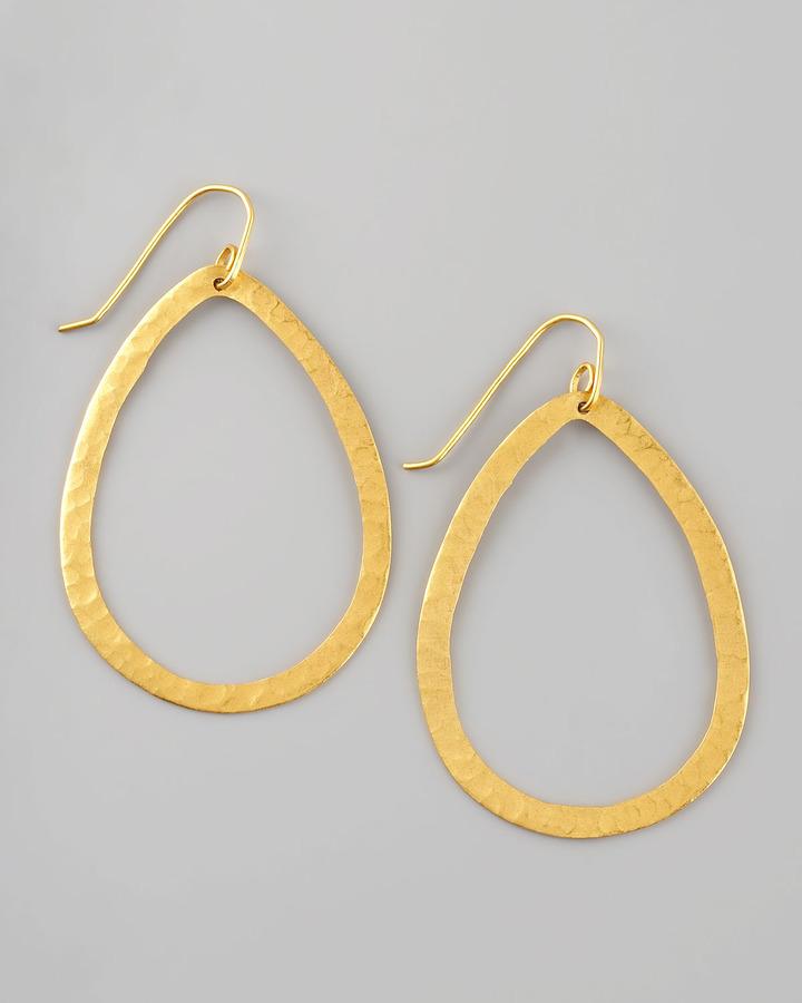 Stephanie Anne Teardrop Hoop Earrings