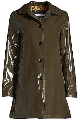 Jane Post Women's Faux Fur-Lined Rain Coat
