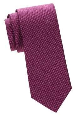 Micro Neat Print Silk Tie