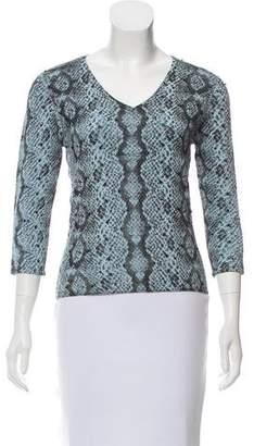 Oscar de la Renta Oscar by Embellished Knit Sweater