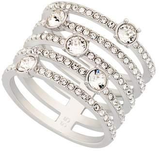 Swarovski Creativity Rhodium Plated Crystal Ring - Size 6.75