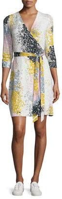 Diane von Furstenberg New Julian Two Printed Jersey Wrap Dress $398 thestylecure.com