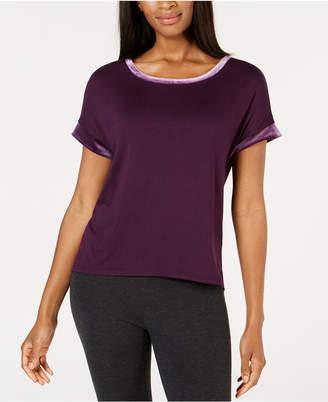 Alfani Velvet-Trim Pajama Top, Created for Macy's
