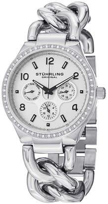 Stuhrling Original Stainless Steel Case on Chain Bracelet Watch